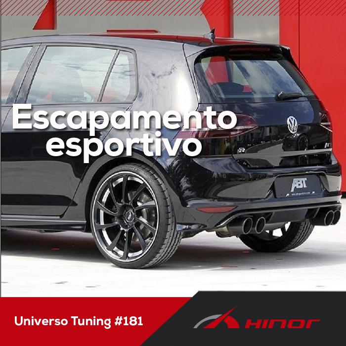 Universo Tuning #181- Escapamento esportivo aumenta a potência do motor?