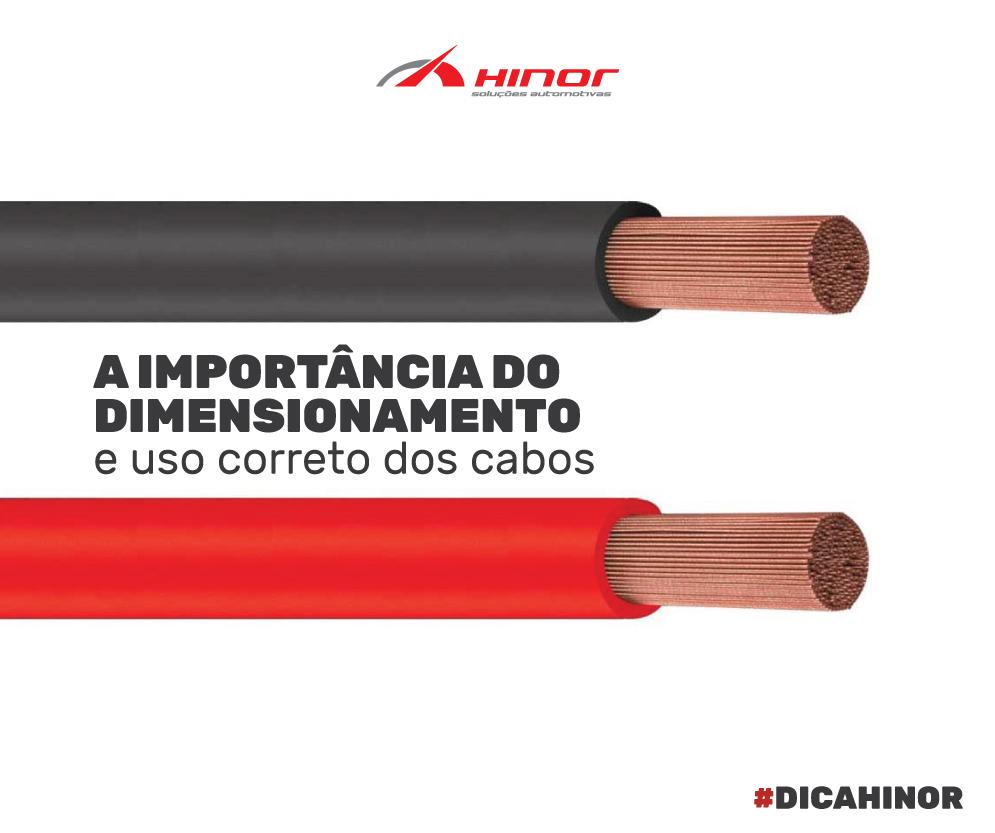 A importância do dimensionamento e uso correto dos cabos.